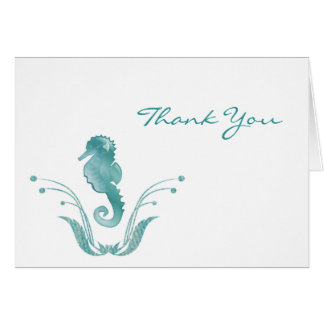 Beach Theme Thank You Cards