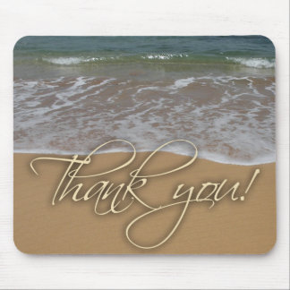 Beach theme Thank You Mouse Pad