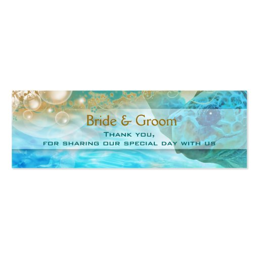 Beach theme wedding favors turtle business cards