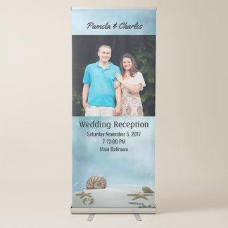 Beach Theme Wedding Photo Retractable Banner