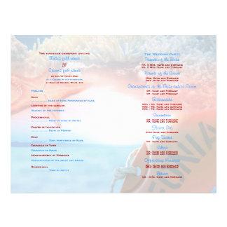 Beach theme wedding tropical cruise flyer design