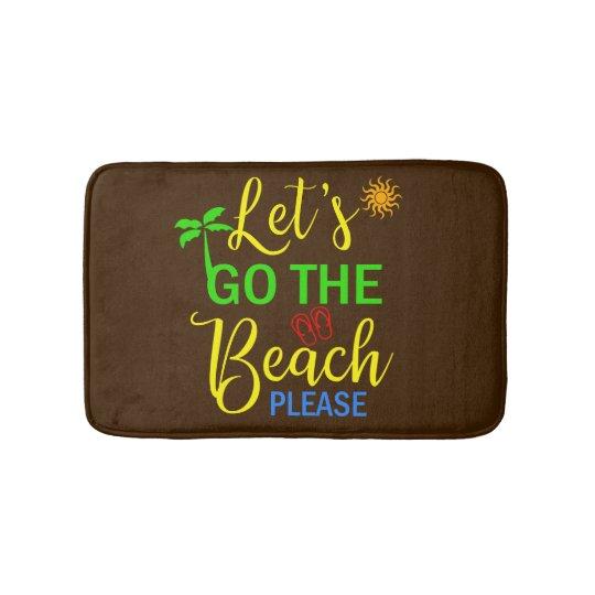 Beach Themed Bathroom Rug Mat