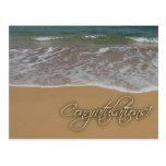 Beach themed congratulations post cards