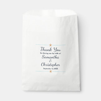 Beach themed Favor Bags - Starfish Thank You Bags