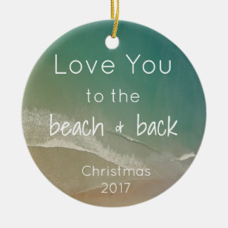 Beach Themed Ornament with Quote