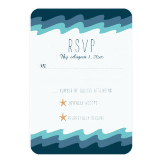 Beach Themed RSVP Card - Blue Wave
