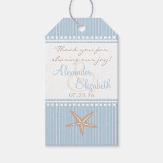 Beach Themed Wedding Guest Favor Thank You Blue