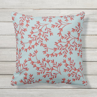 Beach Throw Pillow Ocean Blue Coral