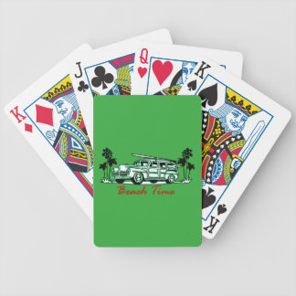 Beach Time Bicycle Playing Cards