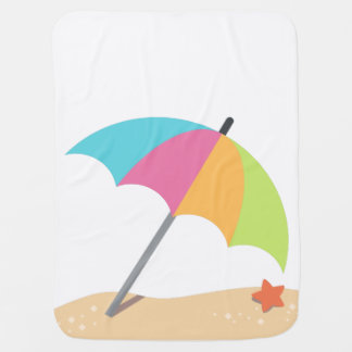 Beach Time Fun Baby Blanket