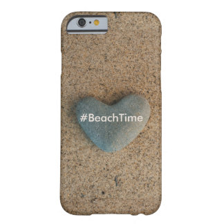Beach Time Heart Shaped Stone Barely There iPhone 6 Case