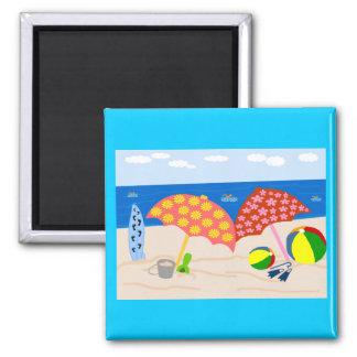 Beach time magnet