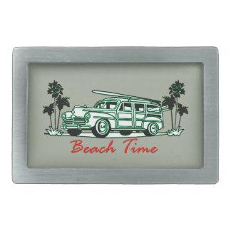 Beach Time Rectangular Belt Buckle