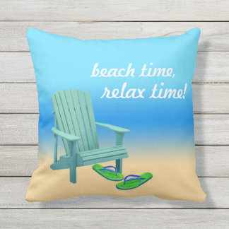 Beach Time, Relax Time! Cushion