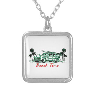 Beach Time Silver Plated Necklace