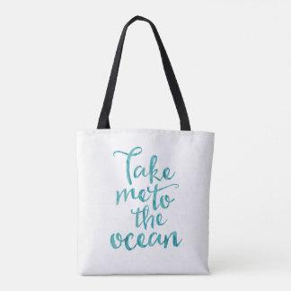 Beach tote bag | Take me to the ocean