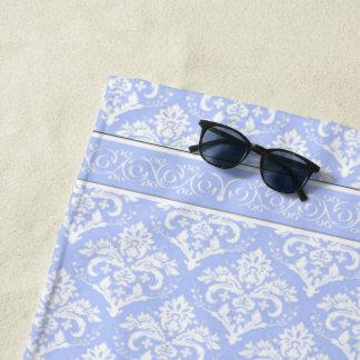 Beach Towel - Wedgewood Blue Damask