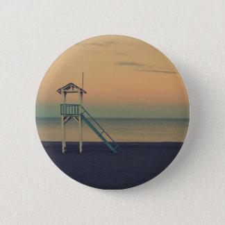 Beach Tower Sunset 6 Cm Round Badge