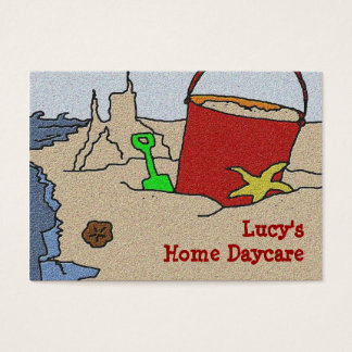 Beach Toys Daycare Advertising Business Card