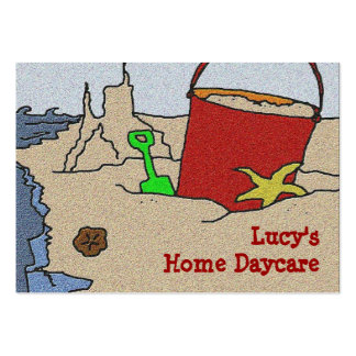 Beach Toys Daycare Advertising Pack Of Chubby Business Cards