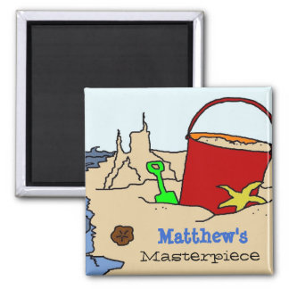 Beach Toys Kids Personalized Art Magnet