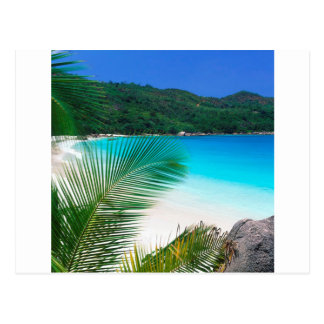 Beach Tropical Retreat Seychelles Postcard