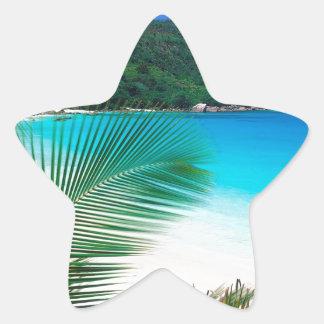Beach Tropical Retreat Seychelles Star Sticker
