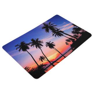 Beach Tropical Sunset Floor Mat
