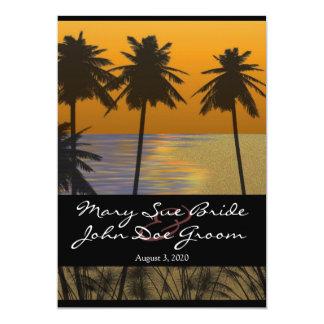 Beach Tropical Wedding Invitations