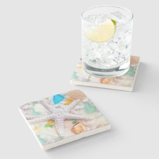 Beach Tropican Theme Drink Coasters