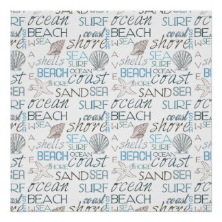 Beach Typography Poster