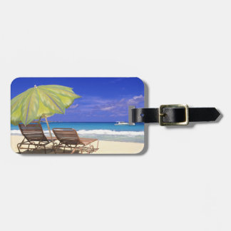 Beach Umbrella, Abaco, Bahamas Luggage Tag