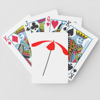 Beach Umbrella Bicycle Playing Cards