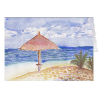 Beach Umbrella Greeting Cards