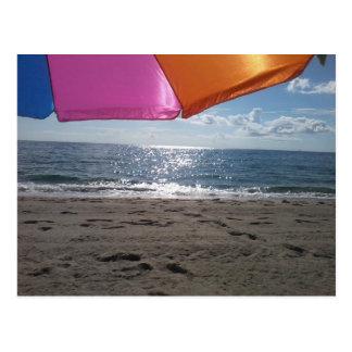 Beach Umbrella Postcard