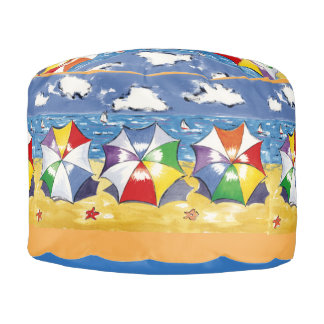 Beach Umbrella Pouf