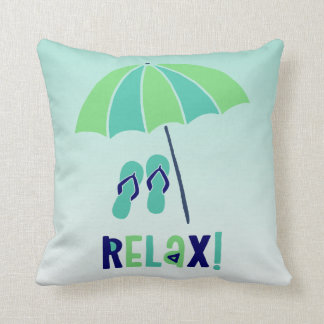 Beach Umbrella Relax Its Good For Your Health Cushion