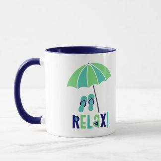 Beach Umbrella Relax Its Good For Your Health Mug
