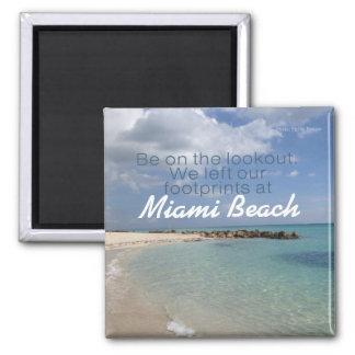 Beach Vacation Travel Souvenir Magnet Miami Etc