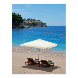 Beach vacations in Montenegro Postcard