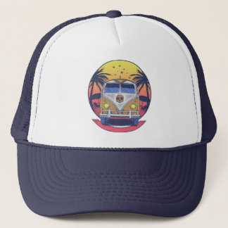 Beach van trucker hat
