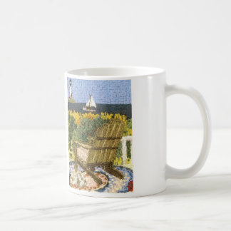 Beach View from Adirondack Coffee Mug