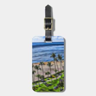 Beach View Maui, Ka'anapali Beach Hawaii Bag Tag