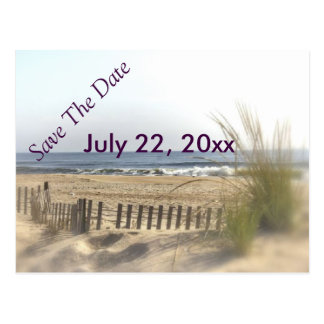 Beach View Vignette Postcard