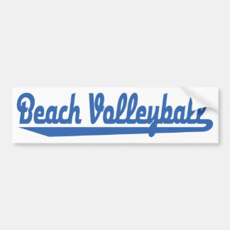 Beach Volleyball Bumper Sticker