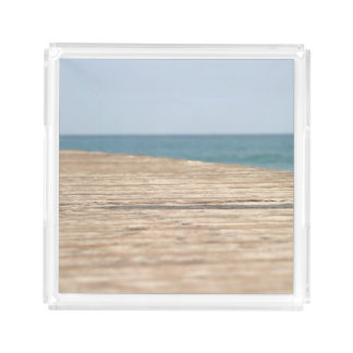 Beach Walk Acrylic Tray