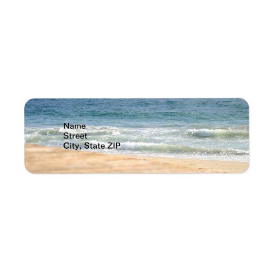 Beach Walk Return Address Label