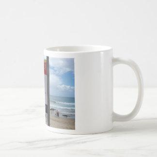 Beach Warning Sign Coffee Mugs