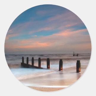 Beach Wash Round Sticker