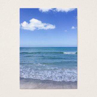 Beach Water Blue Sky White Clouds Background Ocean